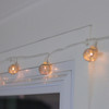 Set of 10 Battery Operated Silver Wire Mesh Globe LED Patio Garden or Christmas Lights with Timer - 31348509