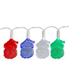 Set of 20 LED Multi-Color Santa Claus Christmas Lights - White Wire - 23117866