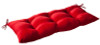 Outdoor Patio Furniture Tufted Bench Loveseat Cushion - Venetian Red - 13928586