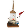 """2.75"""" S'mores Tailgating Grillmaster Holding a """"Fire Up!"""" Flag Decorative Christmas Ornament - 31422040"""