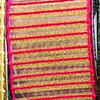 """Semi Sheer Metallic Red and Gold Stripes Wired Craft Ribbon 2"""" x 40 Yards - 31385349"""