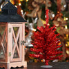 """12"""" Sparkling Red Retro Tinsel Artificial Christmas Tree - Unlit - 7649558"""