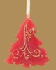5'' Red Cinnamon Scented Wax Christmas Tree Ornament - 15565303