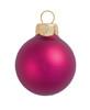 "40ct Matte Raspberry Pink Glass Ball Christmas Ornaments 1.5"" (40mm) - 30939433"
