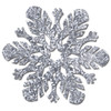 "Club Pack of 12 Prismatic Silver Foil Snowflake Cutout Christmas Decorations 14"" - 31561824"