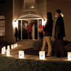 Set of 10 Lighted Winter Snowflake Christmas Luminaria Pathway Markers - 30851524