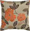 "22"" Khaki Brown and Pumpkin Orange Decorative Throw Pillow - 28569699"
