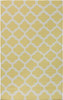 9' x 13' Gated Passage Yellow and Light Gray Hand Woven Wool Reversible Area Rug - 30873546