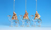 """Club Pack of 12 Icy Crystal Religious Three Kings Nativity Ornaments 4.5"""" - 31002353"""