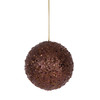 """Fancy Chocolate Brown Holographic Glitter Drenched Christmas Ball Ornament 4"""" - 11226117"""