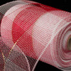 """Red and White Checkered Pattern Deco Mesh Craft Ribbon 6.5"""" x 80 Yards - 31391014"""