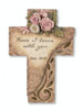 """11"""" Religious Peace I Leave You Solar Powered LED Memorial Cross on Stake - 31517267"""