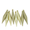 "8ct Champagne Gold Shatterproof 4-Finish Finial Drop Christmas Ornaments 6"" - 31730652"