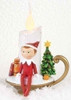 """6.75"""" Decorative Red, Green and White Elf on the Shelf Flameless LED Christmas Candle - 31573553"""