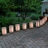Set of 10 Lighted Golden Lantern Luminaria Pathway Markers - Green Wire - 30851558
