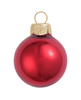 """40ct Pearl Red Xmas Glass Ball Christmas Ornaments 1.5"""" (40mm) - 30939437"""