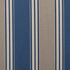 Outdoor Patio Furniture High Back Chair Cushion - Blue and Tan Stripe - 13347438
