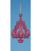 """6"""" Fuchsia Pink Glitter Drenched Christmas Swirling Tree Ornament - 17029166"""