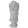 """10.25"""" Heavenly Gardens Distressed Ivory Angel Girl with Floral Crown Outdoor Patio Garden Statue - 32038415"""
