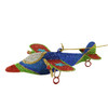 "5"" Glitter Drenched Star Accented Dual Propeller Airplane Christmas Ornament - 31104266"