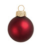 """28ct Matte Henna Red Glass Ball Christmas Ornaments 2"""" (50mm) - 30939524"""
