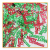 """Pack of 6 Metallic Red and Green """"Merry Christmas"""" Celebration Confetti Bags 0.5 oz. - 31557165"""