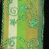 "Leprechaun Green and Moss Green Glitter Taffeta Stars Wired Craft Ribbon 1.5"" x 27 Yards - 31391868"