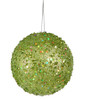 "Fancy Green Apple Holographic Glitter Drenched Christmas Ball Ornament 4"" - 9418657"