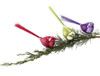 """Sugared Fruit Red Glitter Glass Bird Clip-On Christmas Decoration 7"""" - 11241967"""