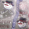 """Sheer White """"Let it Snow"""" Wired Craft Ribbon 2.5"""" x 20 Yards - 31389410"""