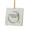 "3.25"" Tuscan Winery Porcelain Napkin ""Wine Improves with Age"" Christmas Ornament - 11253811"