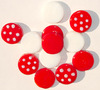 Club Pack Of 72 Red & White Confetti Glass Decorating Pebbles - 5979099