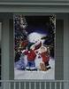 4' Lighted Snowman With Children Christmas Banner - 6936470