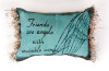 """Friends Are Angels Rectangular Fringed Throw Pillow 8.5"""" x 12.5"""" - 30874963"""