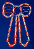 """17.5"""" Lighted Red Bow Christmas Window Silhouette Decoration - 24612152"""