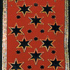 """Red Wired Embossed Velvet Star Gold Trimmed Craft Ribbon 2.5"""" x 20 Yards - 31390967"""