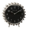 "9.75"" Industrial Urban Mechanical Gear Tooth Black and Silver Desk Clock - 31090223"
