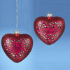 """4.25"""" Hand Crafted Glass Sex and the City """"Hello Lover"""" Heart Christmas Ornament - 31093216"""