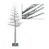4' Silver Glitter Metallic Artificial Christmas Display Tree - 11608109