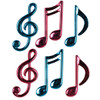 """Club Pack of 72 Cerise Pink and Turquoise Musical Note Decorations 4.5""""- 5.5"""" - 31558273"""