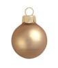 "40ct Matte Cognac Brown Glass Ball Christmas Ornaments 1.5"" (40mm) - 30939394"