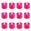 Club Pack of 12 LED Lighted Battery Operated Pink Tea Light Candles - 30851590
