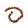5' Red and Gold Twist Glitter Drenched Swirled Christmas Garland - 31105083