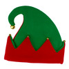 Festive Two-Tone Adult Christmas Elf Hat with Jingle Bells - 10638769