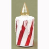 "7"" Icy Candy Cane Striped Glass Christmas Candle Table Top Figure - 16160836"