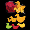 """Club Pack of 144 Yellow Fuzzy Felt Ducks in Assorted Sizes 1"""", 2"""", 3"""" - 31391158"""