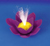 "7"" Purple Battery Operated Fiber Optic Floating Lily Flower Swimming Pool Light - 30925691"