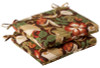 Pack of 2 Outdoor Patio Furniture Chair Seat Cushions - Floral Cafe - 13723546