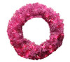 "24"" Pre-Lit Orchid Pink Cedar Pine Artificial Christmas Wreath - Pink Lights - 30789933"