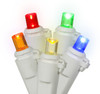 Set of 60 Multi-Color LED Wide Angle Christmas Lights - White Wire - 24616423